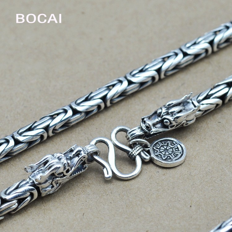 Thai silver necklace pendant necklace FINE SILVER CHAIN NECKLACE hand leading men wholesale