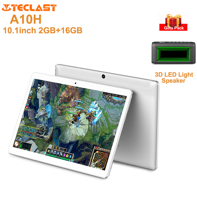 Teclast A10H Tablet PC 10.1'' Android 7.0 MTK8163 Quad Core 1.3GHz 2GB+16GB 2.0MP+0.3MP Double Cams Dual WiFi Tablets PC GPS