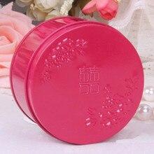 Китайская круглая жестяная Свадебная подарочная коробка, D7.5* H4.5(см) 60 шт./лот, dcxs1-2