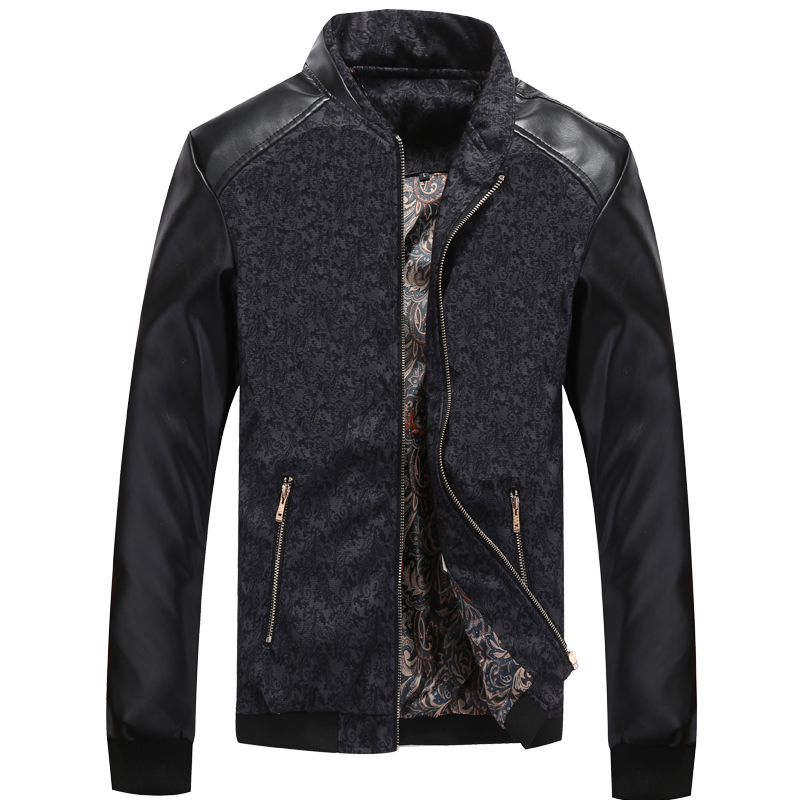 Mountainskin PU Leather PatchworkJacket 2