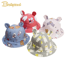 Cute Baby Hat for Girls Cartoon Baby Boy Hat with Ears Spring Autumn Children Cap Cotton Kids Hats Toddler Baby Muts 1PC все цены