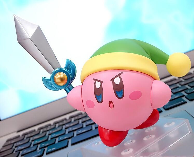 2f0dcfe94780 US $16.99 40% OFF|Anime figure Nendoroid 544 Kirby 10 cm Action Figure Toys  Kirby can face transplant figures Collectible Action PVC Toy Figure -in ...