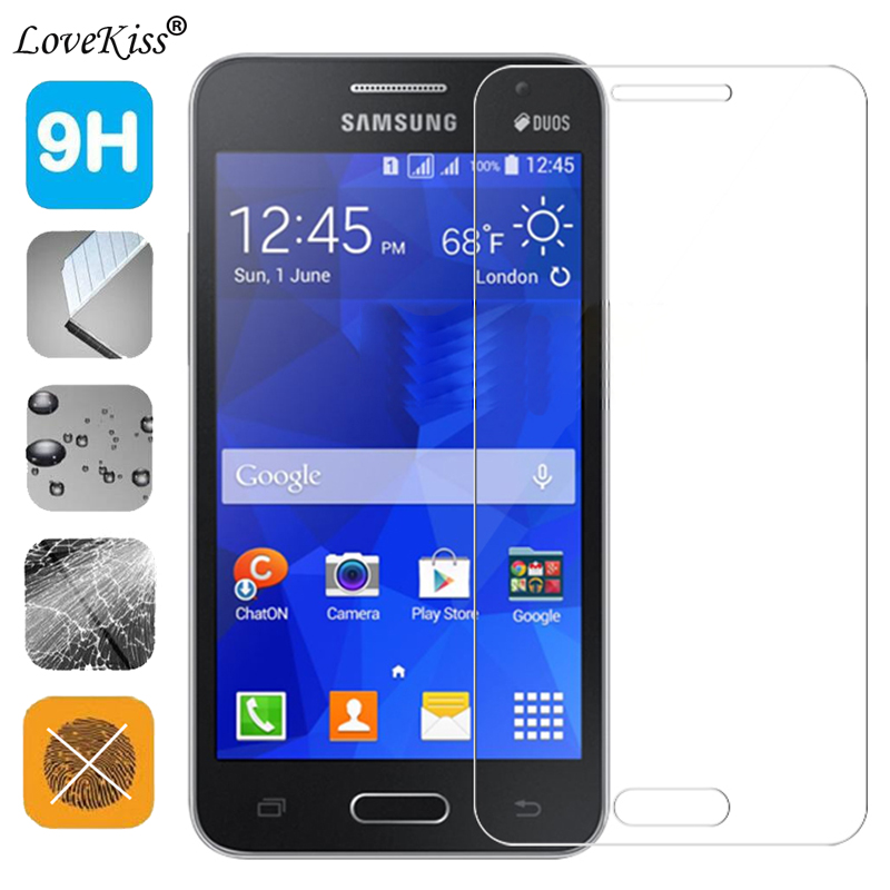 9H Tempered Glass Screen Film For <font><b>Samsung</b></font> Galaxy Core II 2 <font><b>SM</b></font>-<font><b>G355H</b></font> G355 Screen Protector Protective Glass Film <font><b>G355H</b></font> <font><b>Case</b></font> Cover image