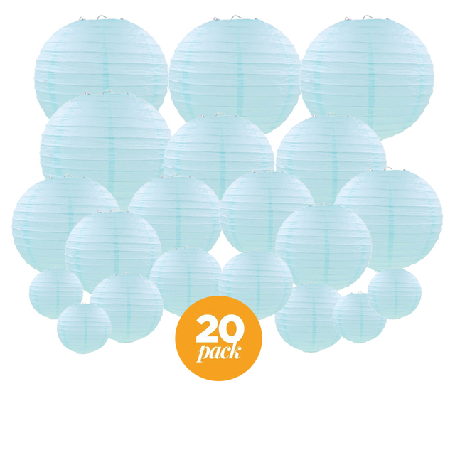 20 Pcs 4 12 Light Blue Paper Lantern For Wedding Chinese Anese