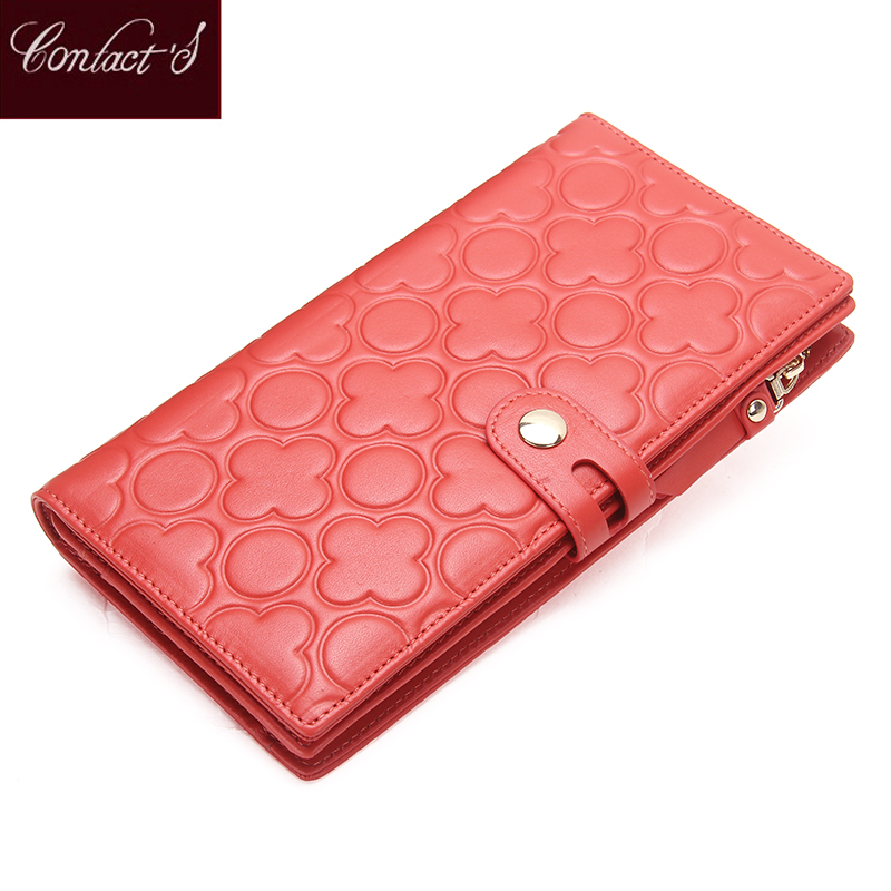 Genuine Leather Women Wallet Portable Multifunction Long Wallets Hot Female Change Purse Lady Coin Purses Card Holder Carteras