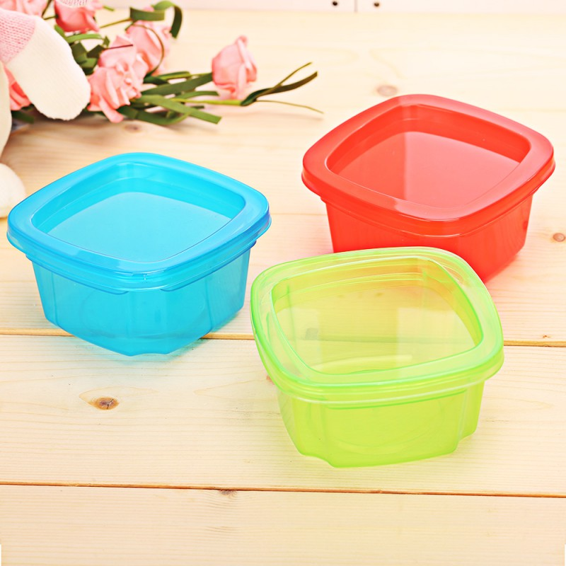 1Pc 200ml Baby Food Boxes Container Baby Snacks Storage Boxes Mini Portable Crisper Sealed Boxborn Baby New