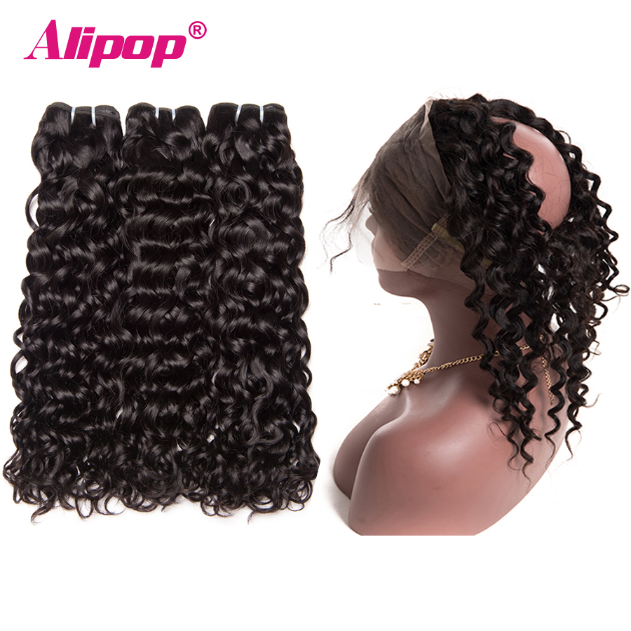 Aliexpress.com : Buy Indian Water Wave Bundle 360 Lace ...