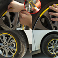 3M Car Wheel Tire Hub Sticker Care Cover Decal Moulding Car Styling Strip 8M Auto Rim Tire Protection