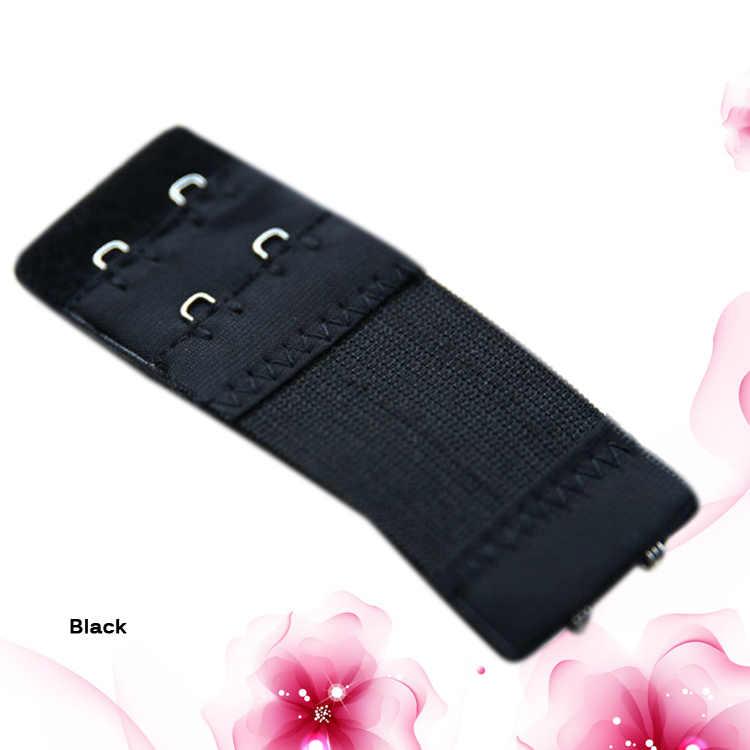 2019 Venta caliente moda 2 botones Color blanco negro albaricoque sujetador de moda hebilla alargada elástica hebilla telescópica de acero inoxidable