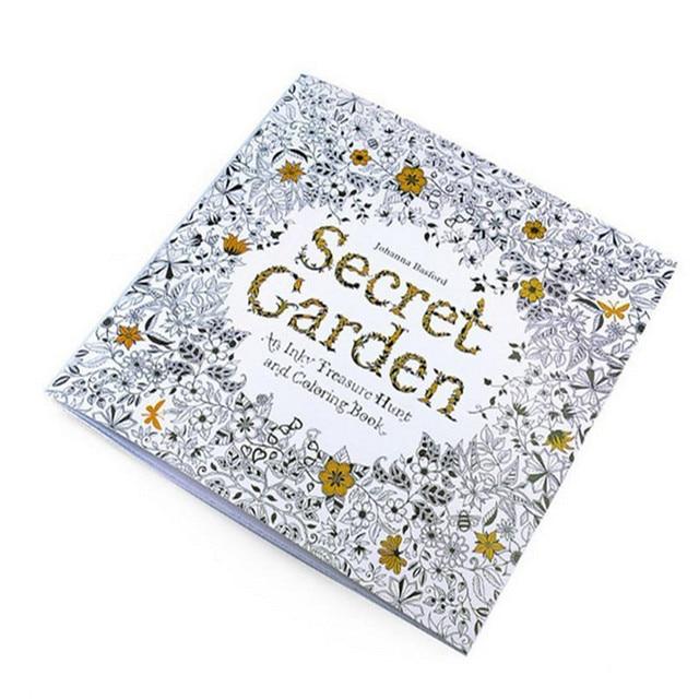 Freeshipping Секретный Сад Взрослые Окраска Книги 24 страниц Английский Artbook Снятия напряжения Раскраски Для Взрослых