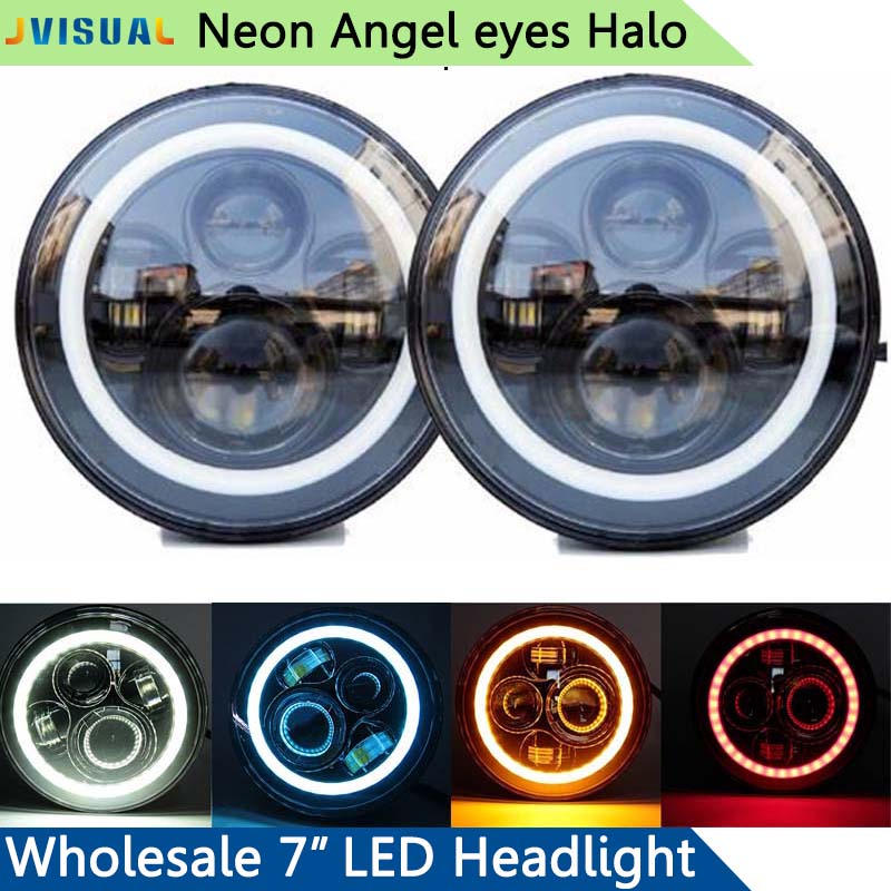 45W 7inch Car Led Headlight 4x4 Off road Led Angel Eye Halo Light Auto Headlight Kit for Jeep Wrangler Toyota JK CJ Motorcycle барьер road angel 19cm