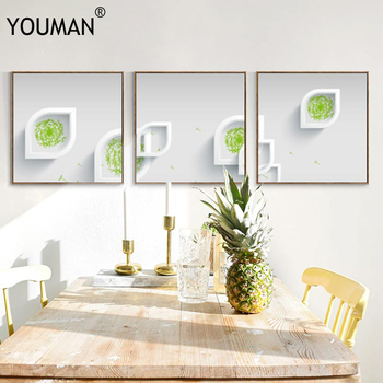 Plant Wallpaper Leaves Minimalist Art Canvas Poster Painting Nature Wall Picture Wallpapers Modern Home Office Room Decoration