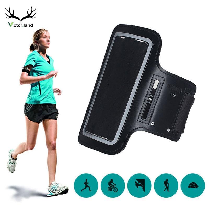 Black Color Armbands For LG G7 Thinq V30 Plus G6 V20 V40 V35 Q6 K10 G5 G4 Waterproof Gym Running Arm Band Bag Case Pouch Fish
