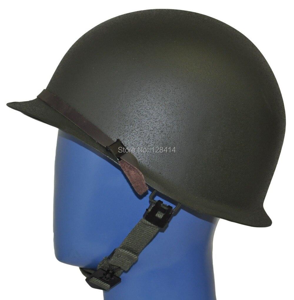 Militech США M1 Реплика шлем с ABS внутренняя шлем ww2 M1 двухэтажный шлем 2 мировой войны армии США Защитные шлемы мотоцикл