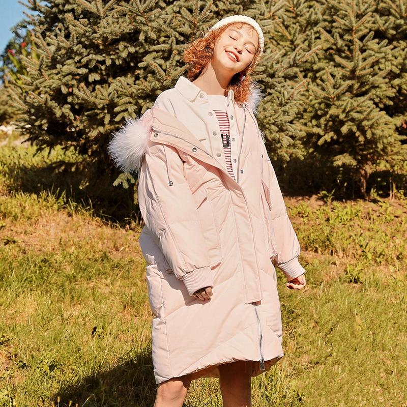 Col 2018 Mode De Hiver Manteau Épaissir Le Nouvelle Haut Veste Longue Fourrure Outwear Section Taille Bas Dark pink Femmes Grey Lcy952 À Capuchon Vers Gamme Parkas Grande znzprwEx1