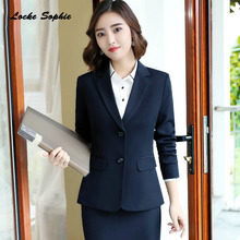 1PCS Womens Plus size Blazers coats 2019 Autumn cotton blend Single Breasted Small Suits jackets ladies Skinny Suit