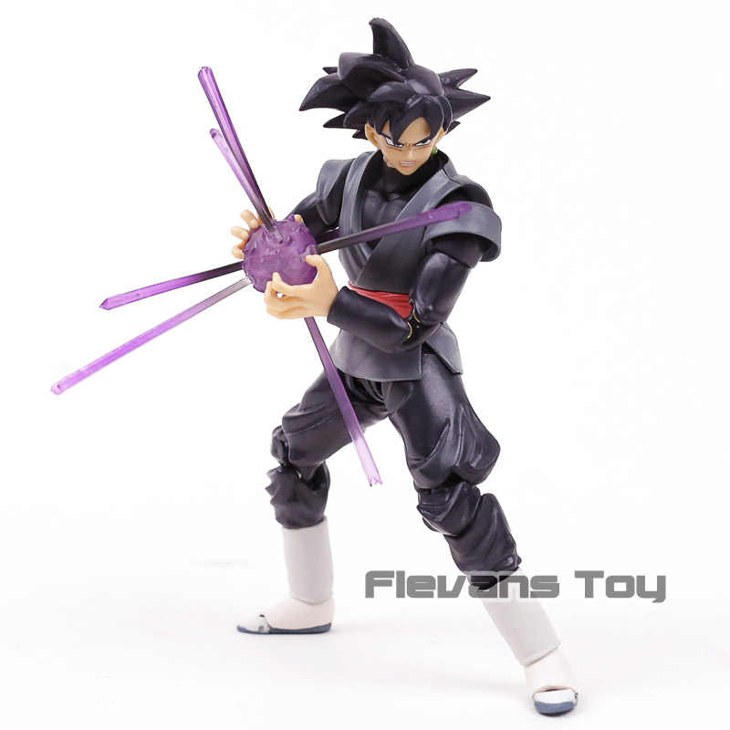 SHF Dragon Ball Z Son Goku Super Saiyan Rosa Preto PVC Action Figure Collectible Modelo Toy