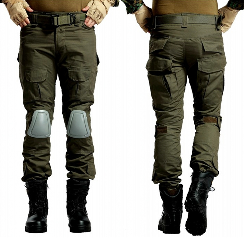 CQC Tactical Pants Cargo Men Military Army Hunting Airsoft Paintball Camouflage Gen2 BDU Combat Pants With Knee Pads OD emerson g2 tactical pants with knee pads airsoft combat training military trousers bdu army airsoft paintball pants em8525