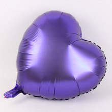 18 inch Heart-shaped Inflatable Aluminum Foil Balloon