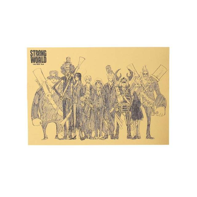 One Piece Kraft Paper Poster 51.5 * 36 CM