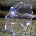 Светодиодный светильник Прозрачный Unbrella для подарка окружающей среды Сияющие светящиеся Зонты Вечеринка Реквизит для мероприятия зонты с ...