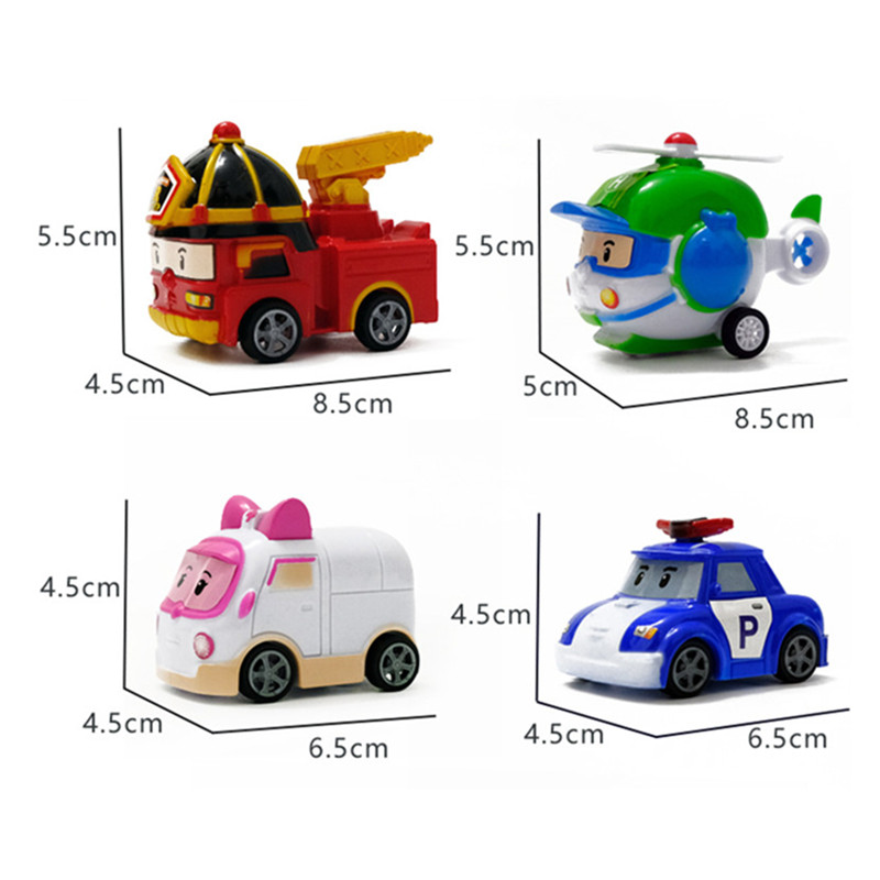 2019 4pcs Cartoon Poli Robocar Korea Robot Kids Toys Anime Action Figure Super Wings Toys For Children Playmobil Juguetes in Action Toy Figures from Toys Hobbies