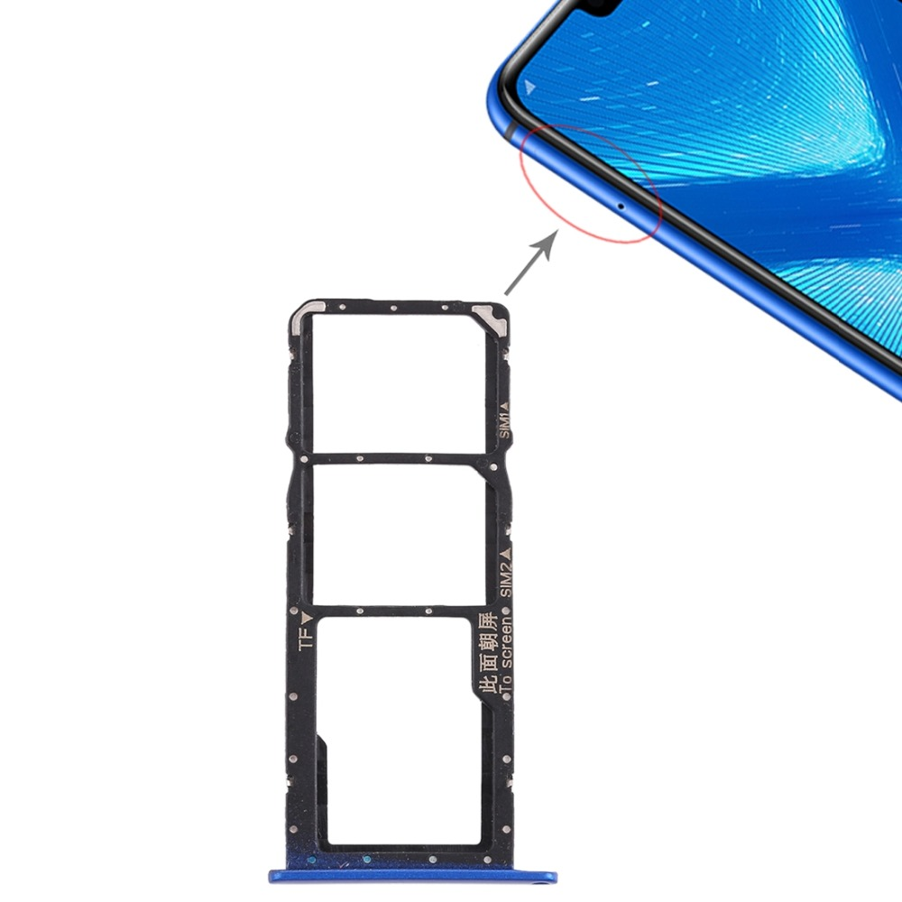US $1 69 10% OFF|SIM Card Tray + Micro SD Card Tray for Huawei Honor 8C/8X  /10 repair parts-in SIM Card Adapters from Cellphones & Telecommunications