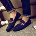 2017 Fashion Genuine Leather Loafers Mocassin  Shoes Casual Slip On Flats Driving Shoes