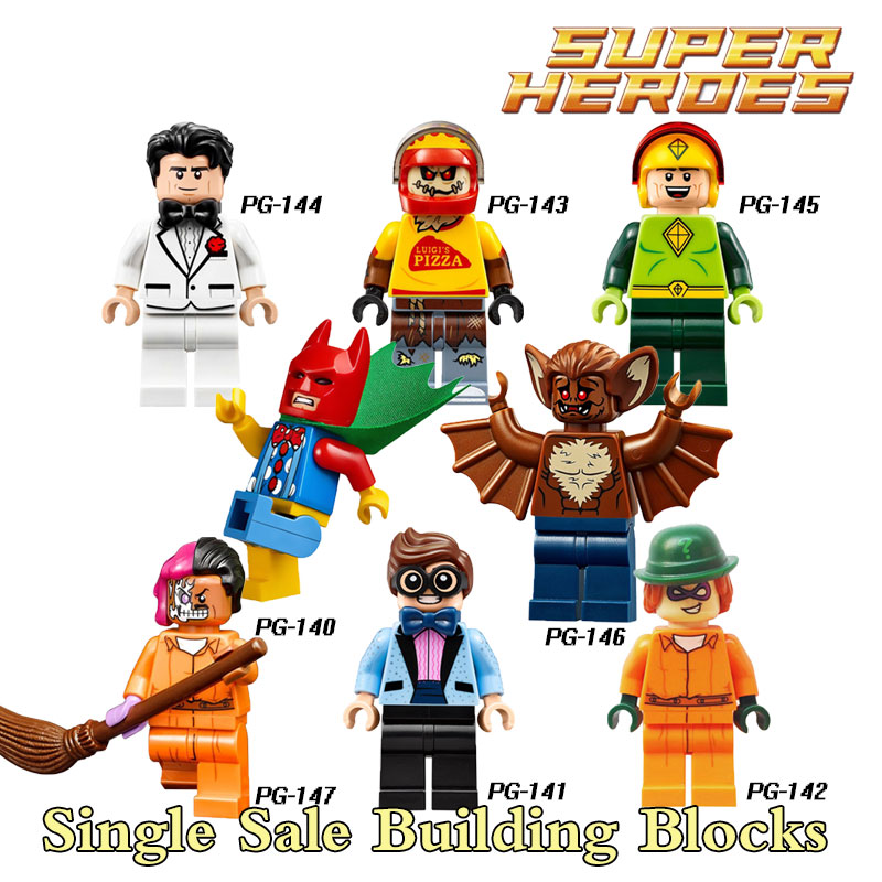 Building Blocks Two-Face Batman Joker Bruce Wayne Scarecrow Kiteman Star Wars Super Heroes Bricks Kids DIY Toys Hobbies PG8042 single sale pirate suit batman bruce wayne classic tv batcave super heroes minifigures model building blocks kids toys gifts