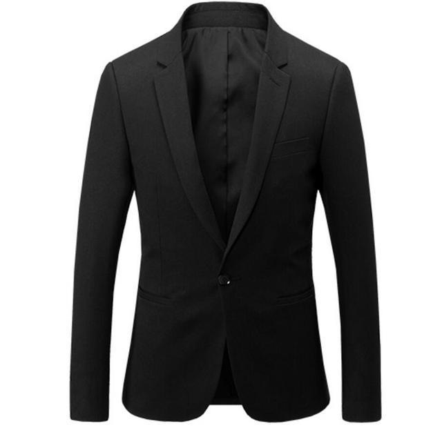 9063fed758618 Hommes de style de mode manteau revers a grain de boucle noir costume  d'affaires