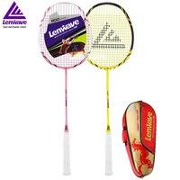 2 Piece Lenwave Brand Professional Training Carbon Badminton Rackets Resistance Fight Sport Badminton Racket
