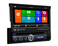 universal 1 one Din 7″ inch  Motorized Touch Screen Car DVD Player Radio GPS Navigator 1din Audio Car Stereo DVD FM radio