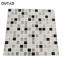 OUTAD Hot Sale 3D Colorful Modern Mosaic Ceramic Tile Sitting Room Toilet Wall Stickers Swimming Pool Mosaic Stickers Home Decor