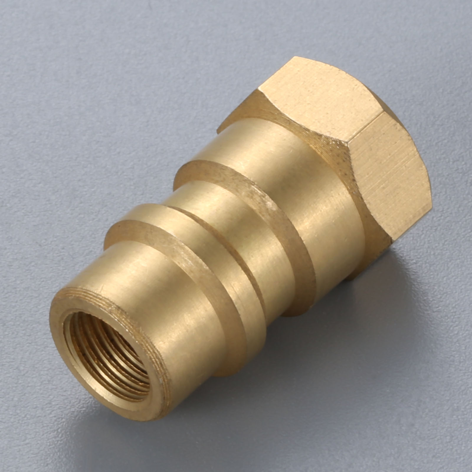 "Image 2 - R12 to R134A Conversion Adapter Valve Brass 1/4"" SAE Female Thread 8v1 Female Thread-in Air-conditioning Installation from Automobiles & Motorcycles"