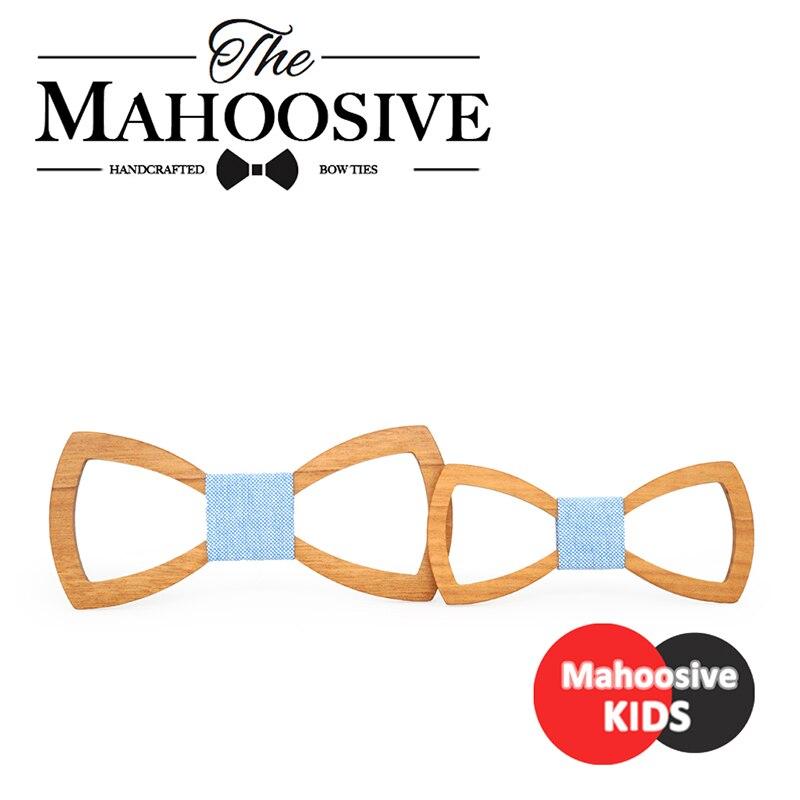 Mahoosive Pai Crianças Crianças bow tie Gravata Corbatas Gravata Gravatás Gravata Borboleta Arco Laços Dos Homens De Madeira de Madeira Combinação