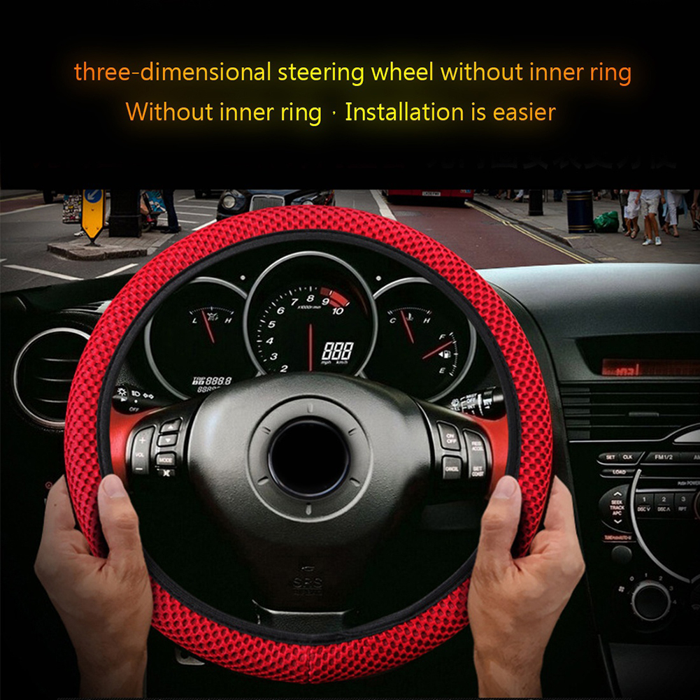 Universal Truck Car Breathable Anti-Slip Steering Wheel Cover Guard Protector