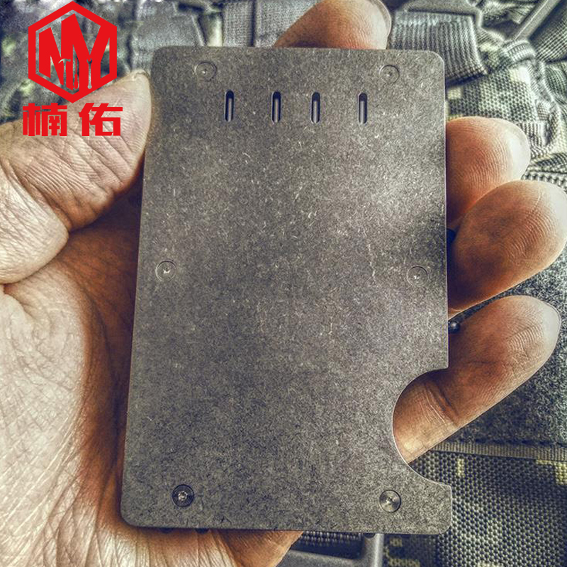 1PC EDC Tool Portable Titanium Alloy Man Simple Wallet Card Holder Metal Card Bag Package Banknote Clip Can Install Tritium Tube