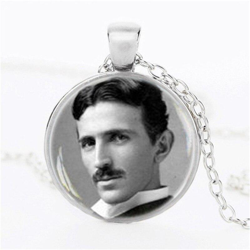 Nikola Tesla photo choker necklace Famous Inventor ...
