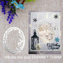 New Creative Oval Frame Metal Steel Cutting Dies Stencil DIY Craft  Scrapbooking Embossing Decorative Photo Album 104x76mm