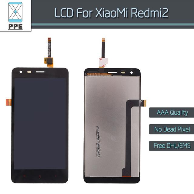 Para xiaomi redmi 2 pantalla lcd con pantalla táctil digitalizador pantalla reemplazo del conjunto aaa sin píxeles muertos lcd envío gratis