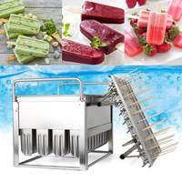 Large Industrial 40pcs Stainless Steel Ice Pop Molds Ice Lolly Popsicle Mould Stick Holder Home Kitchen Shop Ice Cream Maker