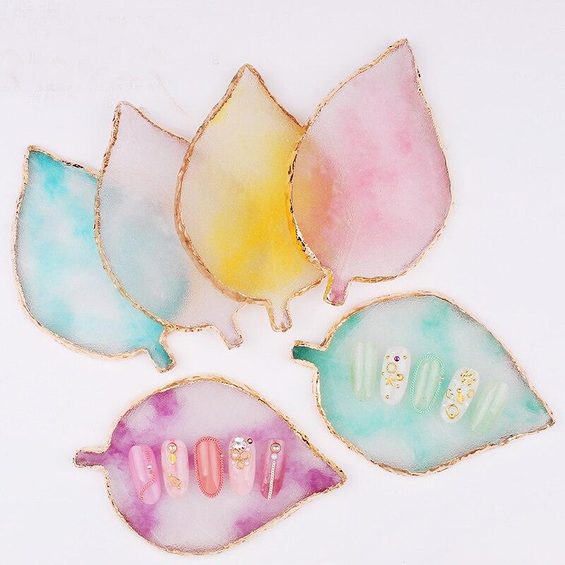 1PCS Nail Art Color Palette Drawing Color Paint Palette For Nails Resin/Agate Gel Polish Holder 13 Colors  Nail Art Equipment Y3
