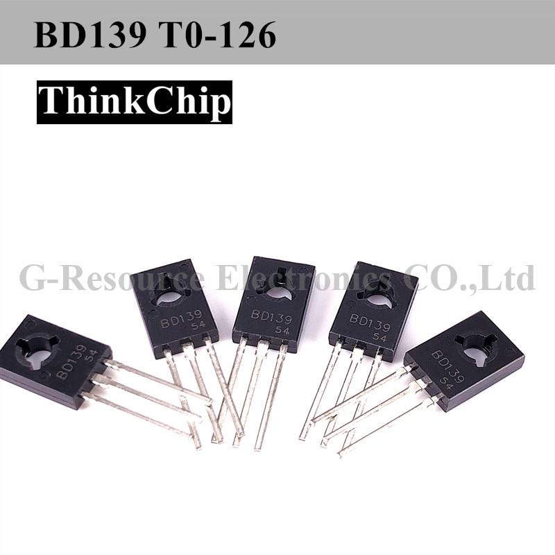 Free Shipping 20 PCS / Lot BD139 TO-126 80 V,1.25 W,1.5 A NPN Power Transistors