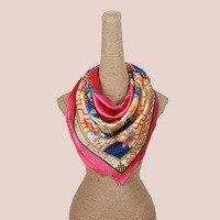 Высокое качество цветы Шелковый шарф большие размеры твил 100% натуральная шелковый шарф толстый качество Шелковый шарф