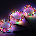 3pcs*10M/33FT 100 LED Corded Outdoor Starry Lights Copper Wire Halloween String Lights with Power Adapter (US,UK,EU,AU plug)