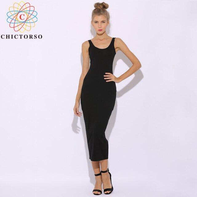 43da26b1a4f4 Chictorso Sexy Club Party Dress Women Sleeveless Summer Dress Plus Size 2  Layers Cotton Black Bodycon Dress Midi Dresses Vestido