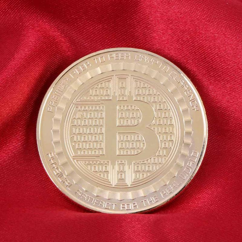 Bitcoin Commemorative Coin Collectible BTC Statue of Liberty Coins Gold Plate Art Collection Physical Metal Antique Imitation