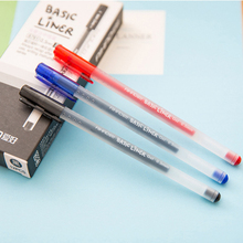 12 Pcs Basic Liner Roller Ball Pen for Writing Signature 0.5mm Ballpoint 3 Color Gel Ink Pens Office Tools School Supplies real picasso 917 ballpoint pen roller ball pen office and school writing supplies gel pens business gift free shipping