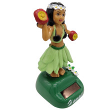 Автомобильные украшения Гавайская девушка хула качающаяся голова игрушка на солнечных батареях Авто интерьерные аксессуары декомпрессионная приборная панель 3,0