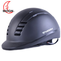 MOON Equestrian Helmet 2019 Horse Riding Helmet Black Half covered Horse Riding Safety Cap Helmet 52 61cm paard helm a50